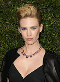 January Jones attends the Chanel and Charles Finch PreOscar Dinner at Madeo Restaurant on February 21 2015 in Los Angeles California