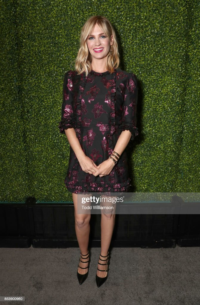 January Jones attends the FOX Fall Party at Catch LA on September 25, 2017 in West Hollywood, California.