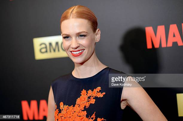 January Jones attends the 'Mad Men' New York Special Screening at The Museum of Modern Art on March 22 2015 in New York City