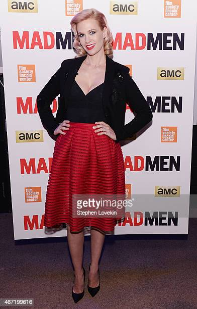 January Jones attends the 'Mad Men' special screening at The Film Society of Lincoln Center on March 21 2015 in New York City