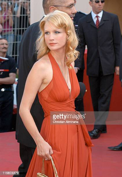 January Jones during 2005 Cannes Film Festival 'The Three Burials of Melquiades Estrada' Premiere in Cannes France