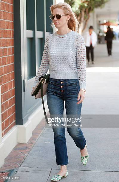 January Jones is seen on April 02 2015 in Los Angeles California