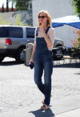 January Jones is seen on April 08 2014 in Los Angeles California