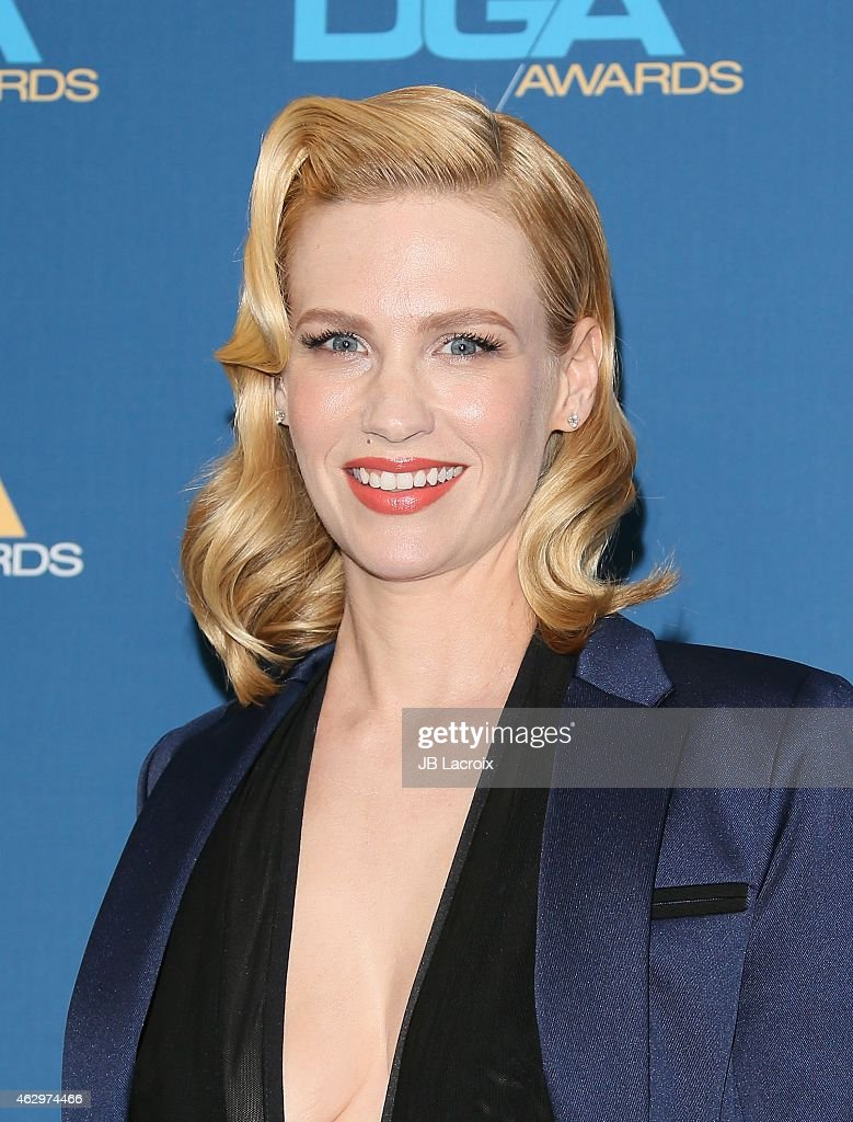 January Jones poses in the press room at the 67th Annual Directors Guild Of America Awards at the Hyatt Regency Century Plaza on February 7, 2015 in Century City, California.