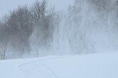 January Winter Blizzard New Brunswick Canada