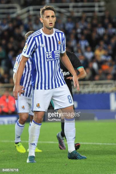 Januzaj of Real Sociedad during the Spanish league football match between Real Sociedad and Real Madrid at the Anoeta Stadium on 17 September 2017 in...