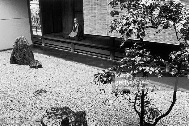 Japan A Bonze In A Zen Garden
