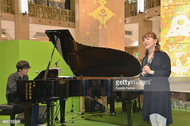 TOKYO Japan A concert using a piano that survived the 2011 earthquake and tsunami at a junior high school in Iwaki Fukushima Prefecture northeastern...