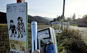 IITATE Japan A radiation reader indicates the level in the village of Iitate Fukushima Prefecture is 26 microsieverts per hour on the evening of...