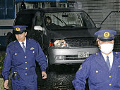 TOKYO Japan A vehicle carrying Masato Uchishiba a twotime Olympic judo champion leaves the Metropolitan Police Department in Tokyo on Dec 6 following...