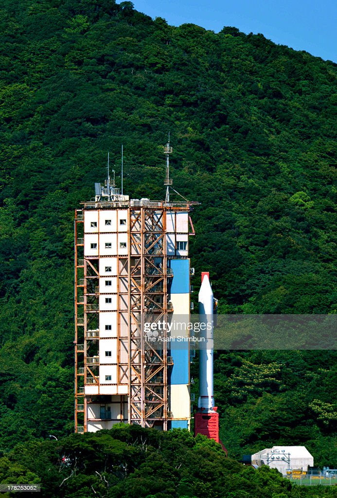 Japan Aerospace Exploration Agency (JAXA)'s Epsilon Vehicle (Epsilon-1) is removed from the launch pad at the JAXA Uchinoura Space Center on August 27, 2013 in Kimotsuki, Kagoshima, Japan. JAXA postponed 19 seconds before the launch, let down 10,000 suectators. JAXA is planning to relaunch after detecting the cause of the irregularity.
