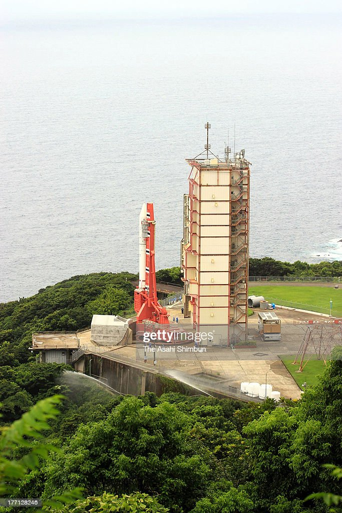 Japan Aerospace Exploration Agency (JAXA)'s Epsilon Vehicle (Epsilon-1) is seen on the launch pad at the JAXA Uchinoura Space Center on August 20, 2013 in Kimotsuki, Kagoshima, Japan. The rocket carrying a satellite 'SPRINT-A', which will observe planets of solar system, is scheduled to launch on August 27.