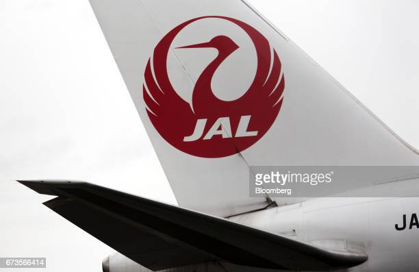 A Japan Airlines Co aircraft taxis at Haneda Airport in Tokyo Japan on Wednesday April 26 2017 JAL is scheduled to release Fourthquarter earnings...