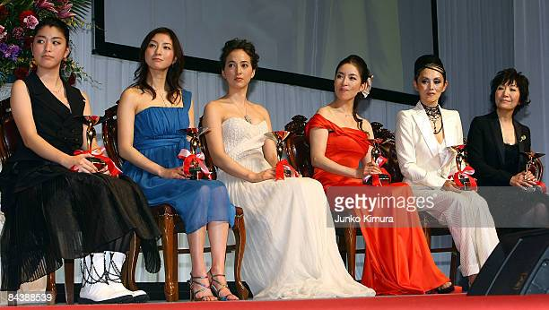 Japan Best Jewellery Dresser Award winners Japanese actresses Riko Narumi Ryoko Hirosue Christel Takigawa Miki Maya Mari Natsuki and singer Ryoko...