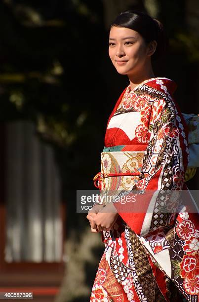 Japan Bish¨­jo Emi Takei attends the new year's photographic party on December 17 2014 in Tokyo Japan