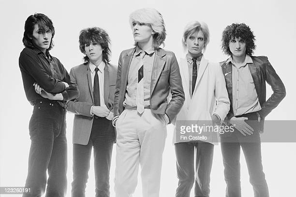 drummer Steve Jansen guitarist Rob Dean singer David Sylvian bassist Mick Karn and synthesizer player Richard Barbieri British New Wave band pose for...