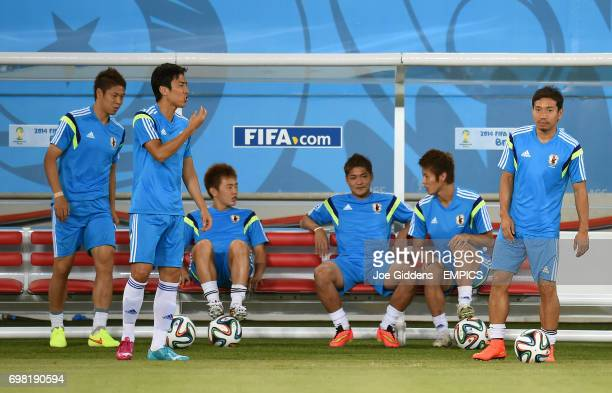 Japan captain Makoto Hasebe during a training session at Arena das Dunas in Natal