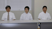 CHIBA Japan Citizen judges hold a press conference at the Chiba District Court in Chiba east of Tokyo on July 21 after the court sentenced Tatsuya...