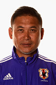 Japan coach Norio Sasaki poses for a portrait during the official Japan portrait session ahead of the FIFA Women's World Cup 2015 at the Sheraton...