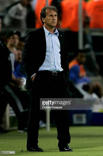 Japan Coach Zico looks on during the FIFA World Cup Germany 2006 Group F match between Japan and Brazil at the Stadium Dortmund on June 22 2006 in...