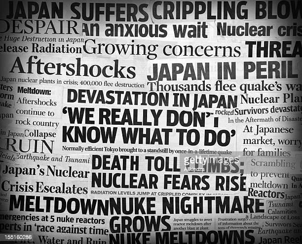 Japan earthquake headline collage two