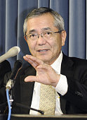 TOKYO Japan Eiichi Negishi of Purdue University who shared the 2010 Nobel Prize in chemistry speaks during a press conference at Japan's science and...