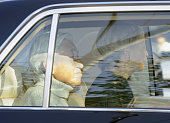 TOKYO Japan Emperor Akihito and Empress Michiko head for the Imperial Palace by car from the University of Tokyo Hospital in Tokyo's Bunkyo Ward on...
