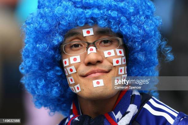 Japan fan shows his colours during the Men's Football first round Group D Match between Japan and Honduras on Day 5 of the London 2012 Olympic Games...