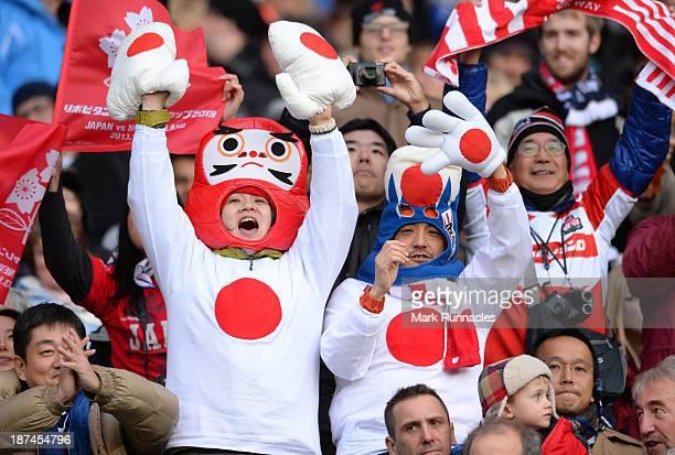 Japan fans in the crowd during the Scotland v Japan Autumn International Series Match at Murrayfield Stadium on November 9 2013 in Edinburgh Scotland