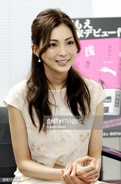 TOKYO Japan Fashion model Moe Oshikiri speaks about her recently published first novel 'Asaki Yumemishi' during an interview on Aug 2 2013 in Tokyo