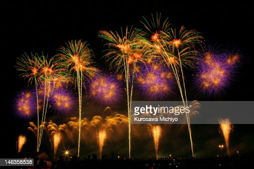 Japan firework competition festi