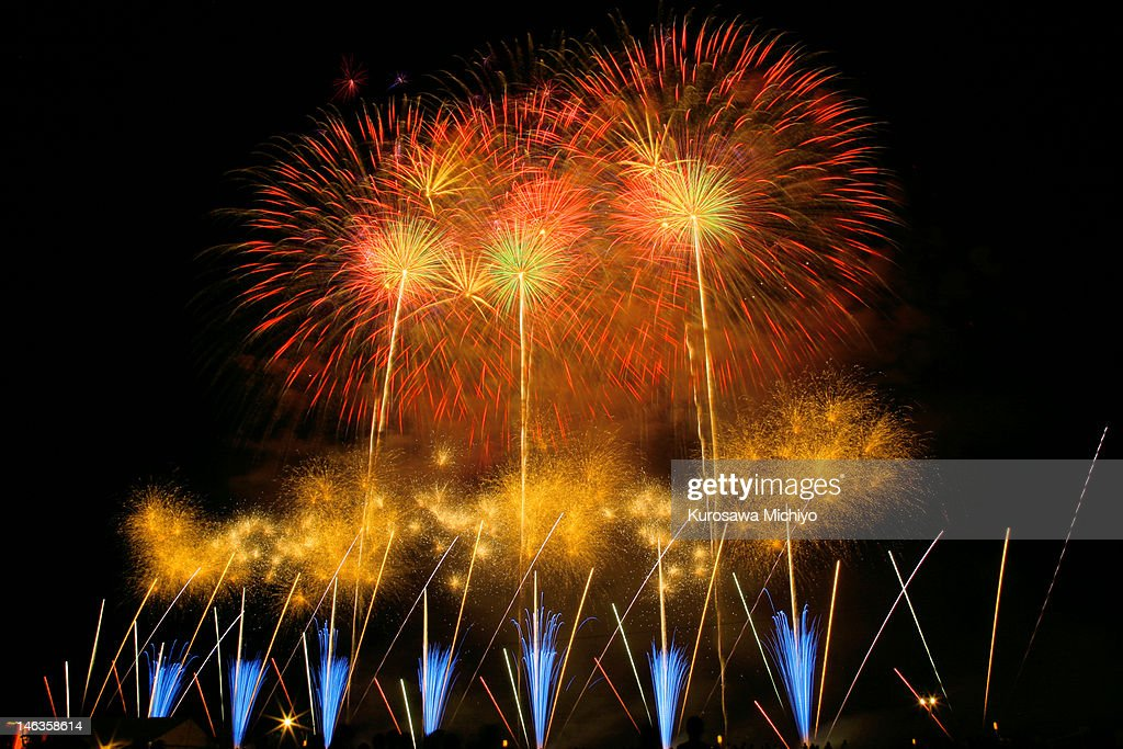 Japan firework competition festival