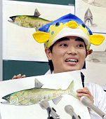 TOKYO Japan Fish expert illustrator and TV personality Sakanakun speaks during a press conference in Tokyo in December 2010 The Ministry of...
