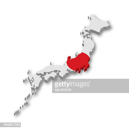 D Japan Flag Map Stock Photo Getty Images - Japan map flag