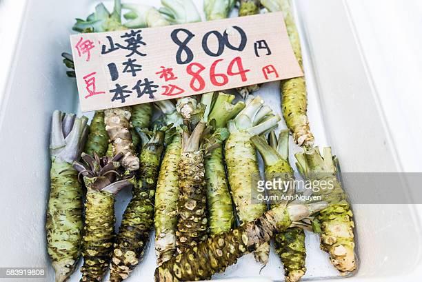 Japan -  Fresh wasabi (Japanese horseradish) for sale