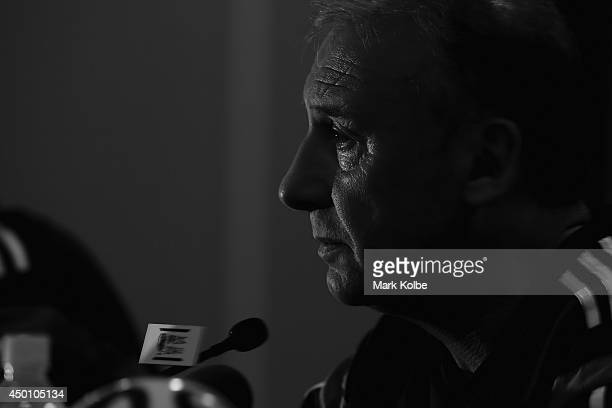 Japan head coach Alberto Zaccheroni speaks to the media during a press conference at the Hyatt Regency Clearwater Beach Resort and Spa on June 5 2014...