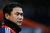 Japan Head Coach / manager Norio Sasaki looks on during the International Friendly match between Netherlands and Japan held at Kras Stadion on...