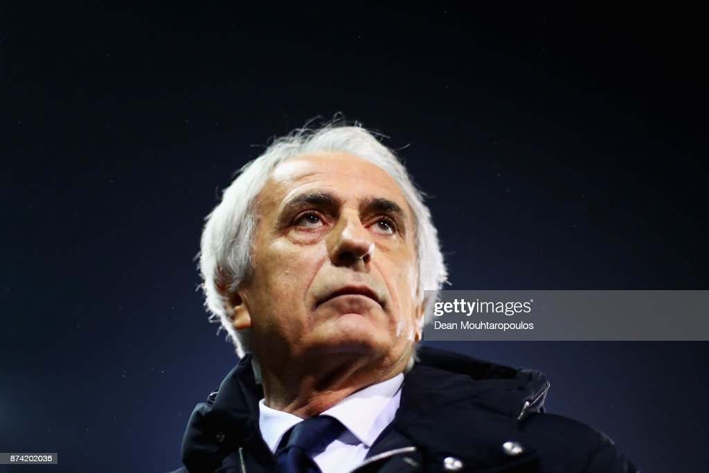 Japan Head Coach / Manager, Vahid Halilhodzic looks on during the international friendly match between Belgium and Japan held at Jan Breydel Stadium on November 14, 2017 in Brugge, Belgium.