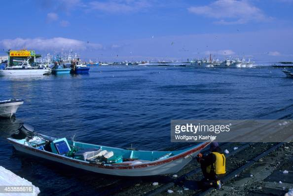 Japan Hokkaido Island Shiretoko Peninsula Rausu Harbor Fishing Boat Used To Fish For Sea Urchins