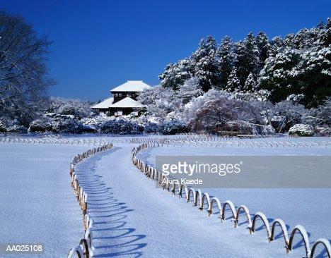 Japan, Ibaraki Prefecture, Mito, Kairakuen Garden, winter