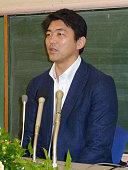 TOKYO Japan Japanese pitcher Takashi Saito speaks at a press conference in Tokyo on Dec 15 after Major League Baseball's Arizona Diamondbacks said...