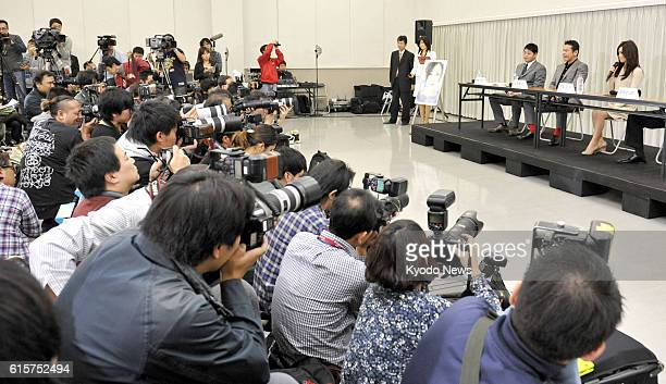TOKYO Japan Journalists pack the venue for a press conference by Noriko Sakai in Tokyo's Koto Ward on Nov 24 where she announced her return to the...
