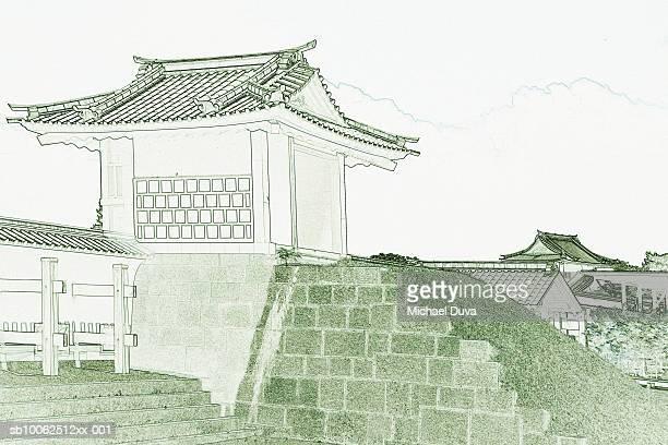 Japan, Kanazawa, seat of Maeda clan (colour manipulation)
