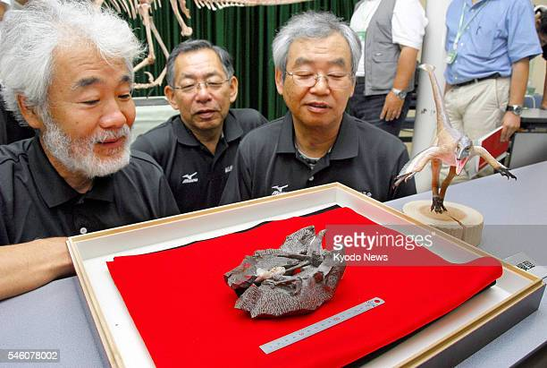 KOBE Japan Kaoru Matsubara looks at the fossil of a species of Deinonychosauria displayed at the Museum of Nature and Human Activities Hyogo in the...