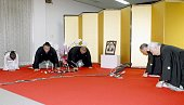 FUKUOKA Japan Kisenosato receives notice that he is to be promoted to sumo's secondhighest rank of ozeki from messengers from the Japan Sumo...