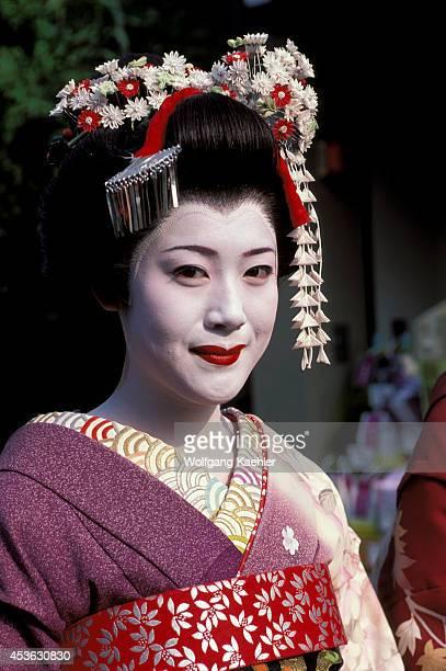 Japan Kyoto Gion District Geisha Portrait