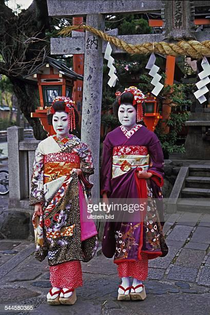 Maikos im Stadtviertel Gion