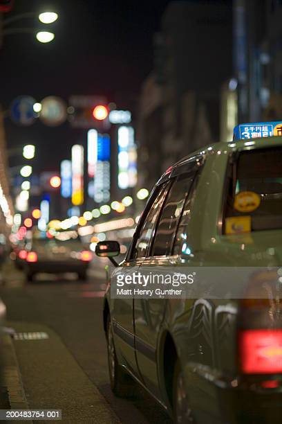 Japan, Kyoto, street scene, night (focus on foreground)