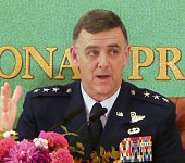 TOKYO Japan Lt Gen Burton Field commander of US Forces Japan and commander of the 5th Air Force speaks to members of the media after delivering a...