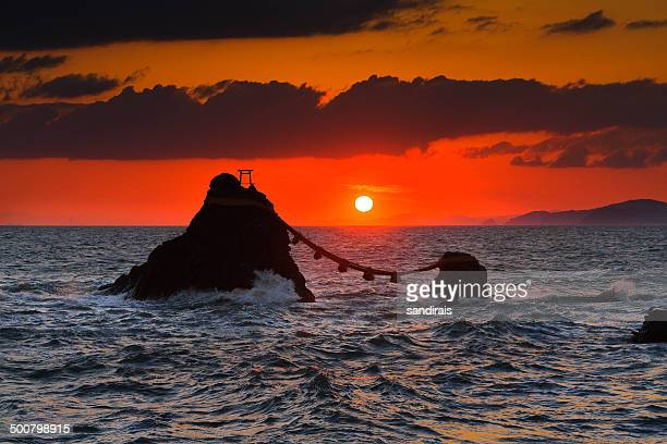 Japan, Mie Prefecture, Husband and Wife Rock